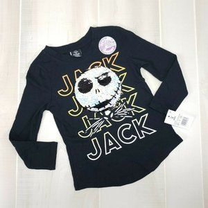 Disney Jack Skellington Girls Shirt Small 6/6x nwt